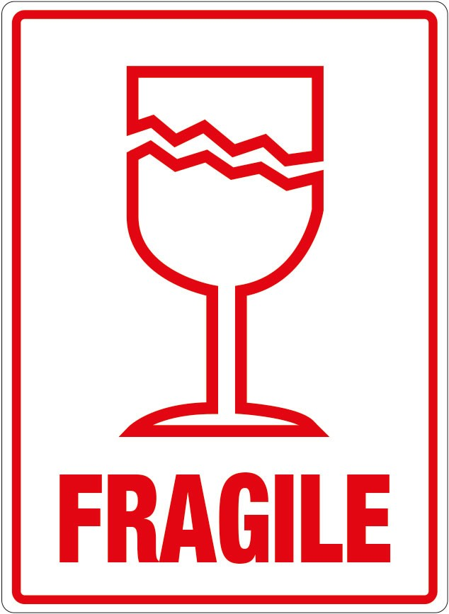 It's just a picture of Fragile Glass Labels Printable inside shipping