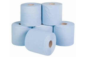Blue Single Ply Centre Feed Rolls