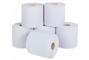 White Two Ply Centre Feed Rolls